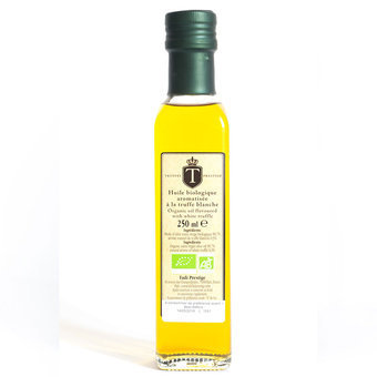 Organic white truffle flavored olive oil