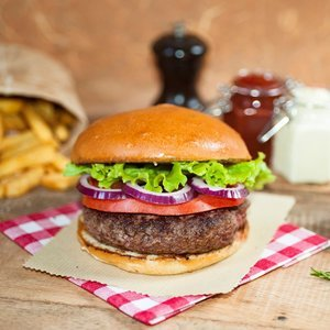 Organic set : Black Angus burger