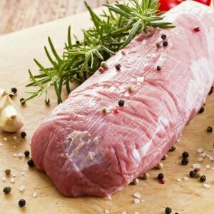 100% natural white veal tenderloin
