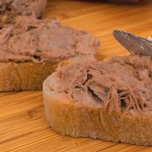 Organic duck rillettes