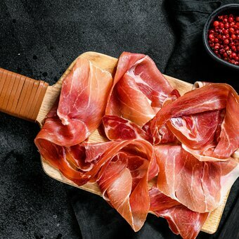 100% natural sliced Iberian shoulder ham